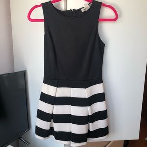Other - Black and White Shorts Romper